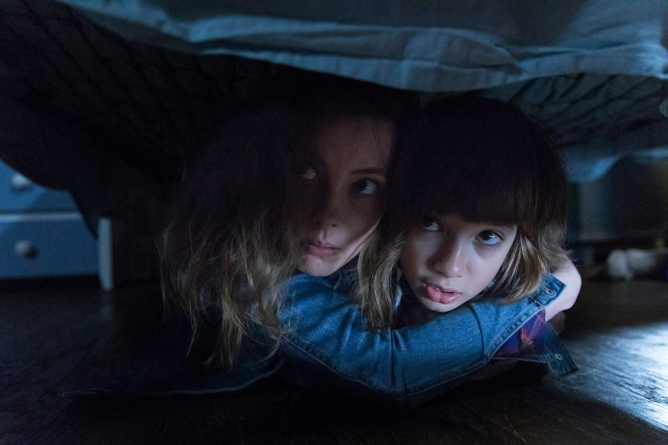 """A mom (Gillian Jacobs) tries to protect her son (Azhy Robertson) when their electronic devices are invaded by a terrifying monster in """"Come Play."""""""