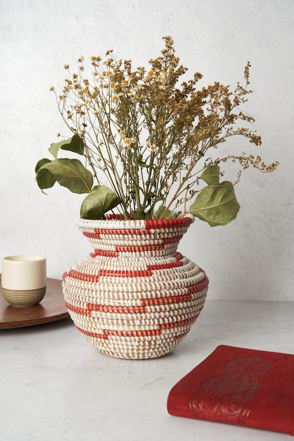 <p>This <span>Expedition Subsahara Kadeesha Woven Vase</span> ($48) will be put on display.</p>
