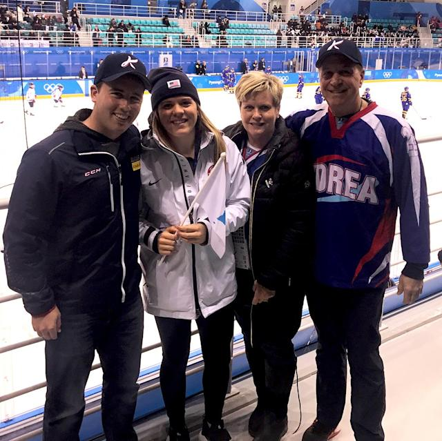 "<p>hannahbrandt22: ""Are you Yoonjungs sister?"" Couldn't be more proud to be watching my sister and her team play in the #olympics<br>(Photo via Instagram/hannahbrandt22) </p>"