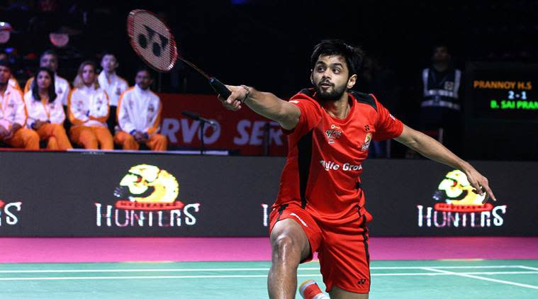 B Sai Praneeth, Hyderabad, Delhi Dashers, Premier Badminton League, PBL, sports news, badminton, Indian Express