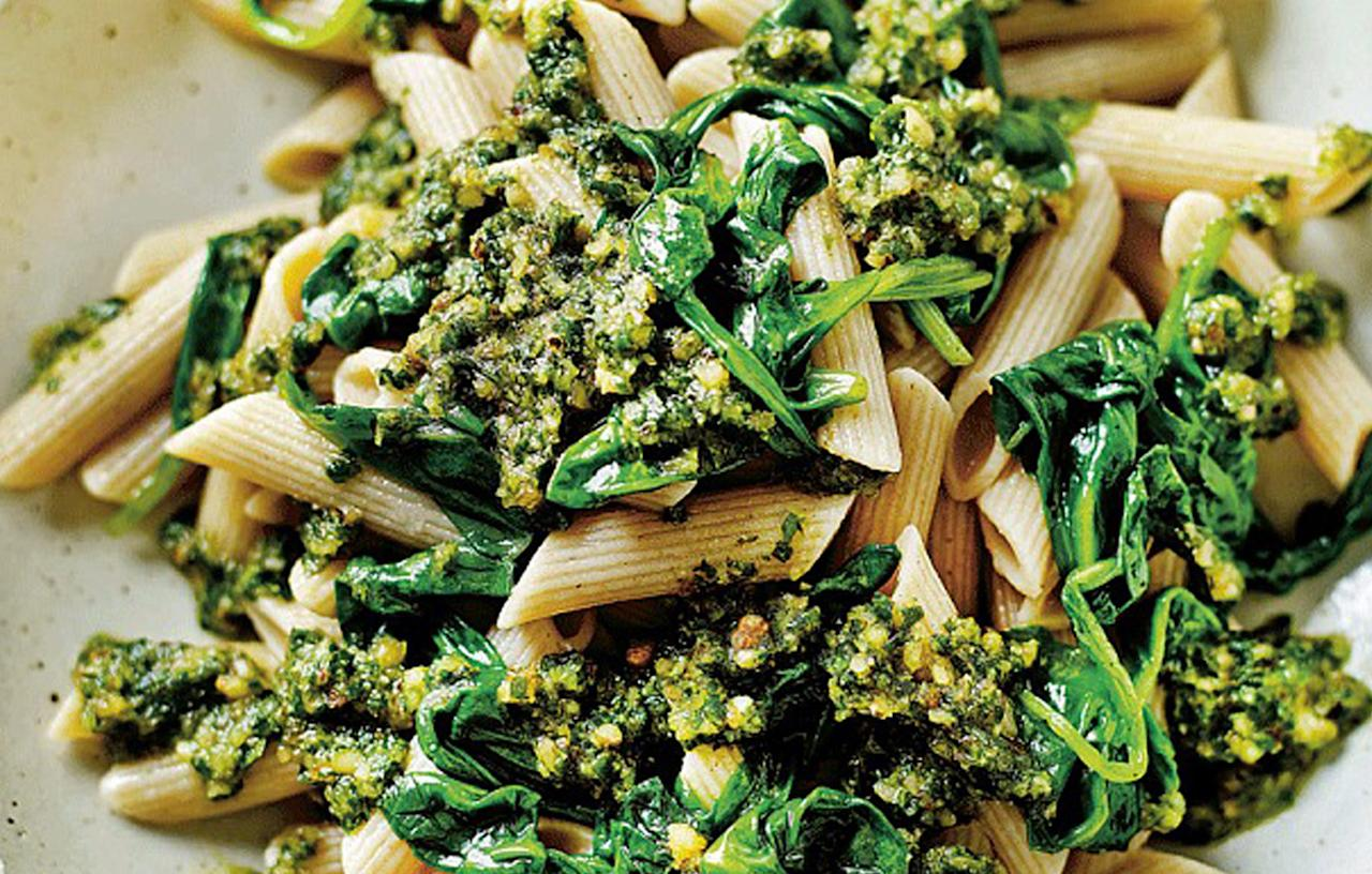 <p>Turns out that pesto is worse for you than a McDonald's burger. The amount of salt in your average pesto pasta serving is now 1.5g, overtaking a Maccy D's hamburger which only contains 1.2g.<br /><i>[Photo: Telegraph]</i> </p>