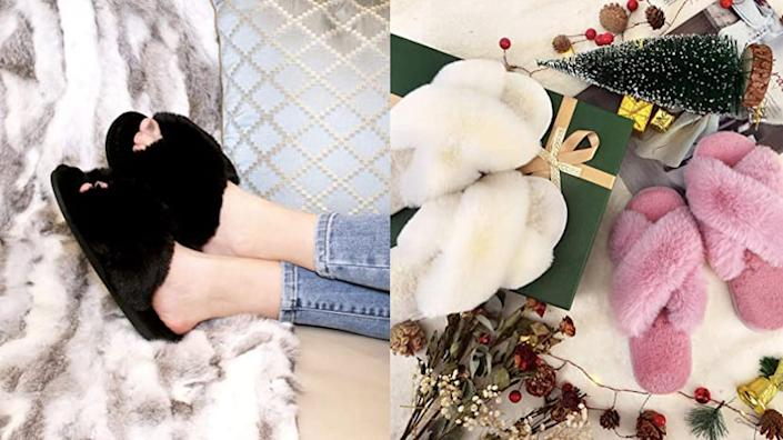Best affordable gifts that look expensive: ParlovableCross Band Slippers