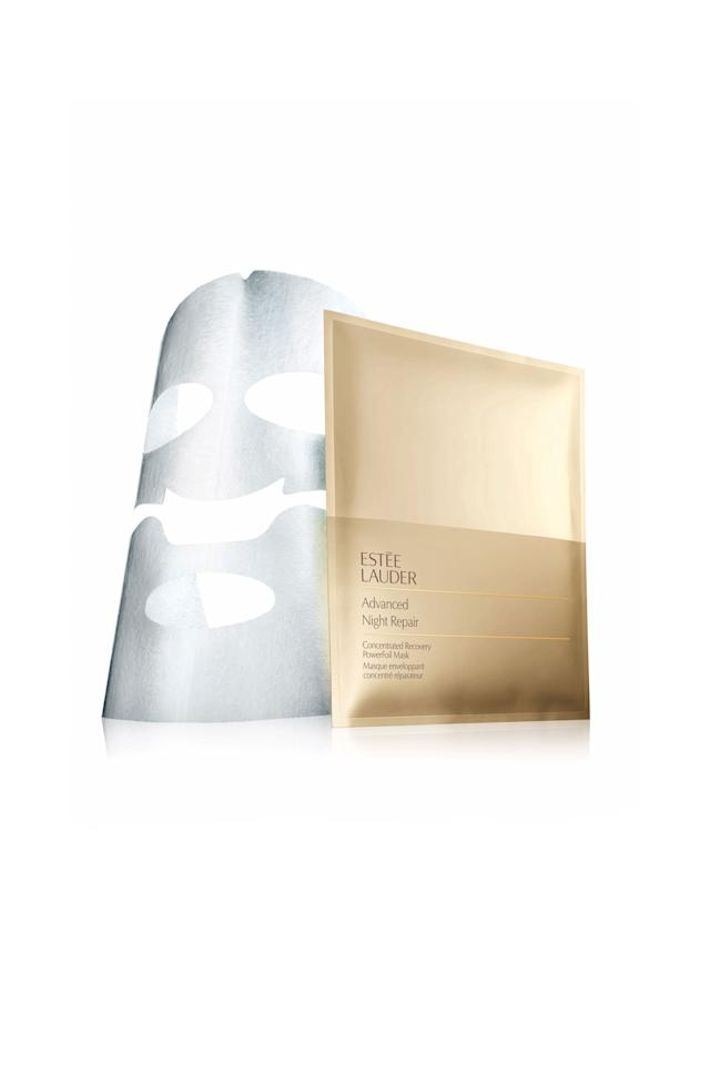 """<p>Since hitting US shelves,sheet masks havebecome a Sunday selfie favorite. """"Sheet masks areeverywhere in Korea, and it's not uncommon for women to use them nightly,"""" says Jennifer Palmer, Estée Lauder'svice president of global skincare product development, who scouts trends in Seoul. Now, newversions are upping the ante, like Estée Lauder'sfoil-linedmask,which absorbs extra quickly.</p><p><strong>Estée Lauder</strong>Advanced Night Repair Concentrated Recovery PowerFoil Mask, $22,<a rel=""""nofollow"""" href=""""https://www.esteelauder.com/product/681/35783/Product-Catalog/Skincare/Advanced-Night-Repair/Concentrated-Recovery-PowerFoil-Mask"""">esteelauder.com</a>.</p>"""