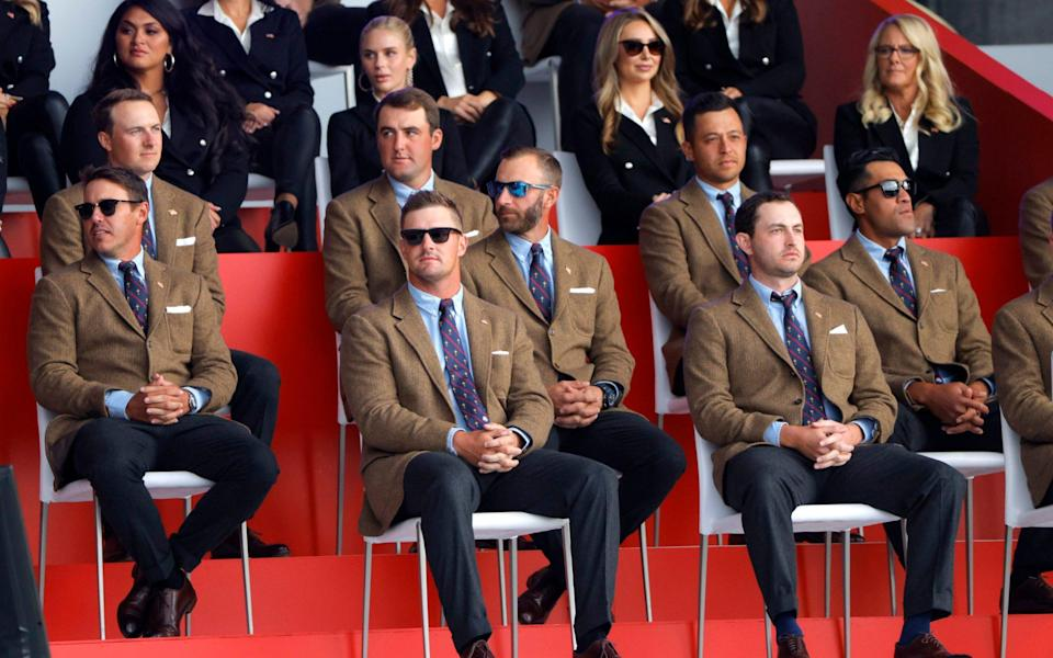 Golf - The 2020 Ryder Cup - Whistling Straits, Sheboygan, Wisconsin, U.S. - September 23, 2021 Team USA during the opening ceremon - REUTERS