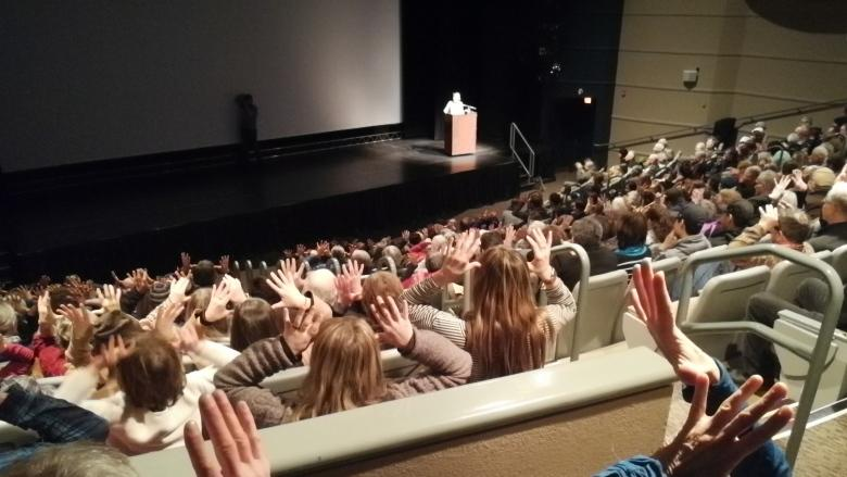 Big crowds turn up in Whitehorse for debut of documentary on Porcupine caribou