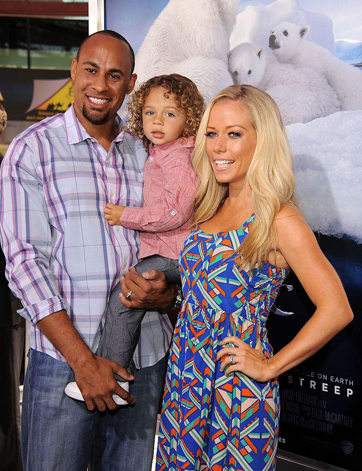 <b>Kendra Wilkinson's son Hank: 9 pounds, 5 ounces</b><br> Like Jessica Simpson, Playmate-turned-reality star Kendra Wilkinson had a  baby with an NFL player -- and also got big results. Her son with  Indiana Colts wide receiver Hank Baskett, Hank IV, weighed in at 9  pounds, 5 ounces, so he had to be delivered via C-section.