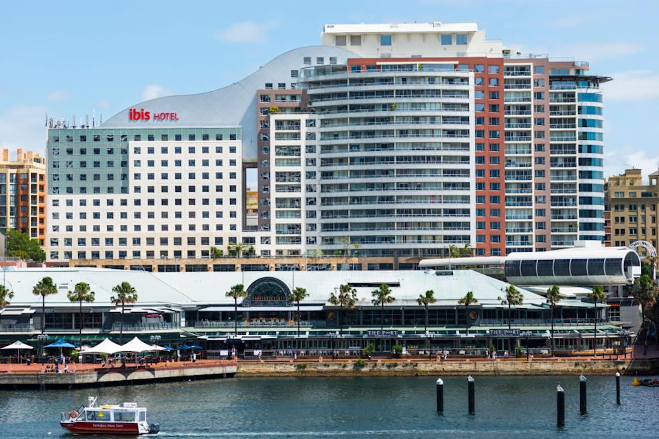 The Ibis in Darling Harbour is being used as a quarantine facility. Source: Getty