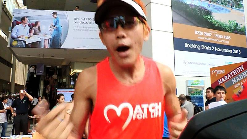 'Ah Siao' runs two marathons on treadmill for bone marrow cause