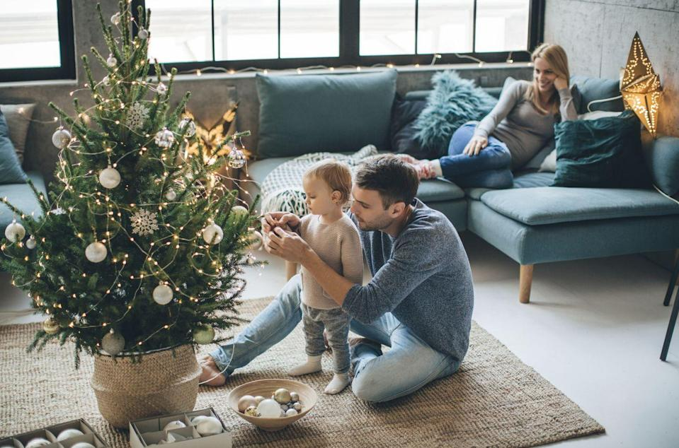 <p>Adding fairy lights to your tree instead of strings of traditional Christmas lights brings a softer, more ambient glow to the decorations, making your whole space feel cozier.</p>