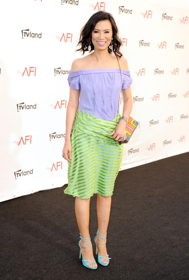 Wendi Deng Murdoch arrives at AFI's 40th Annual Life Achievement Award held at Sony Pictures Studios on June 7, 2012 in Culver City, California.