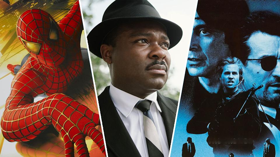 Spider-Man, Selma, and Heat are all new to streaming this weekend (Sony Pictures/20th Century Fox/Warner Bros)