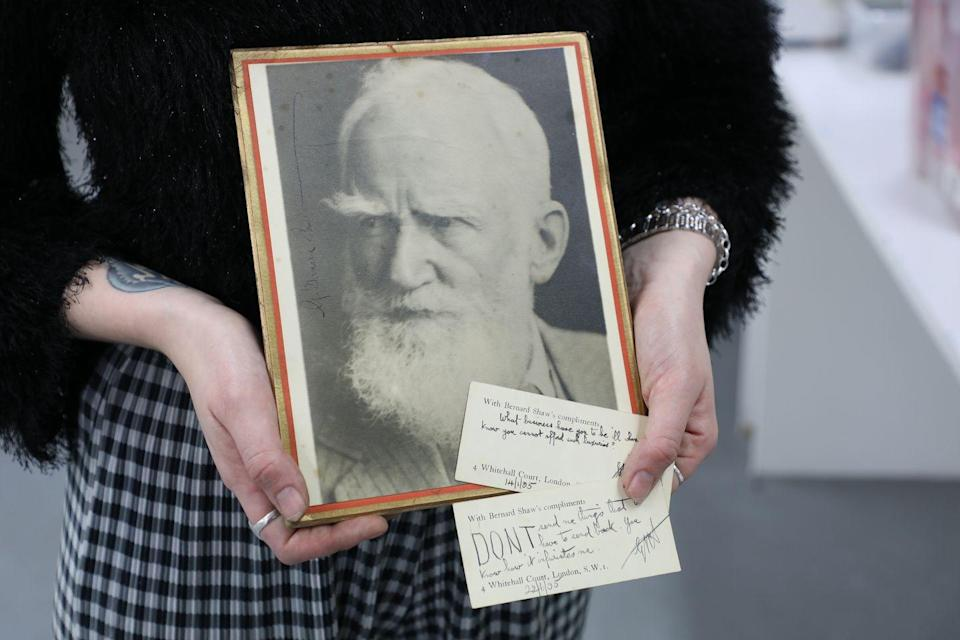 <p>'The quick wit and humour possessed by the great playwright are summed up in these few handwritten sentences,' say Vintage Cash Cow. 'In 1925 he was awarded a Nobel Prize for literature and in 1956 his play Pygmalion was adapted into My Fair Lady, which is performed worldwide to this day.'</p>