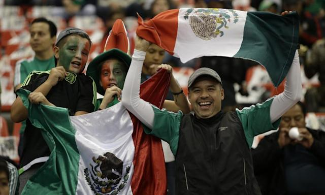 """<span class=""""element-image__caption"""">Mexico has a passionate fanbase north and south of the US border. </span> <span class=""""element-image__credit"""">Photograph: Rebecca Blackwell/AP</span>"""