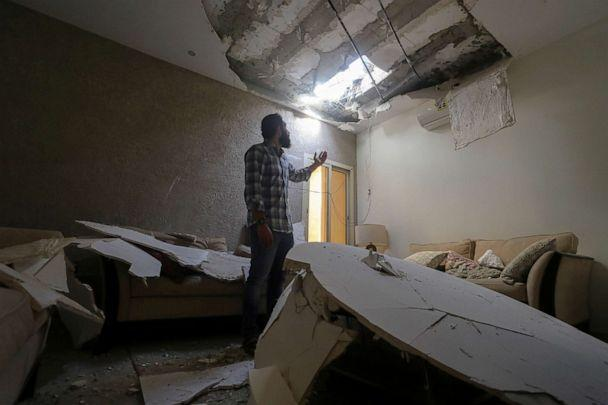 PHOTO: Mohamed Fahim inspects his house that was damaged by an intercepted missile in the aftermath of what Saudi-led coalition said was a thwarted Houthi missile attack, in Riyadh, Saudi Arabia, Feb. 28, 2021. (Ahmed Yosri/Reuters)