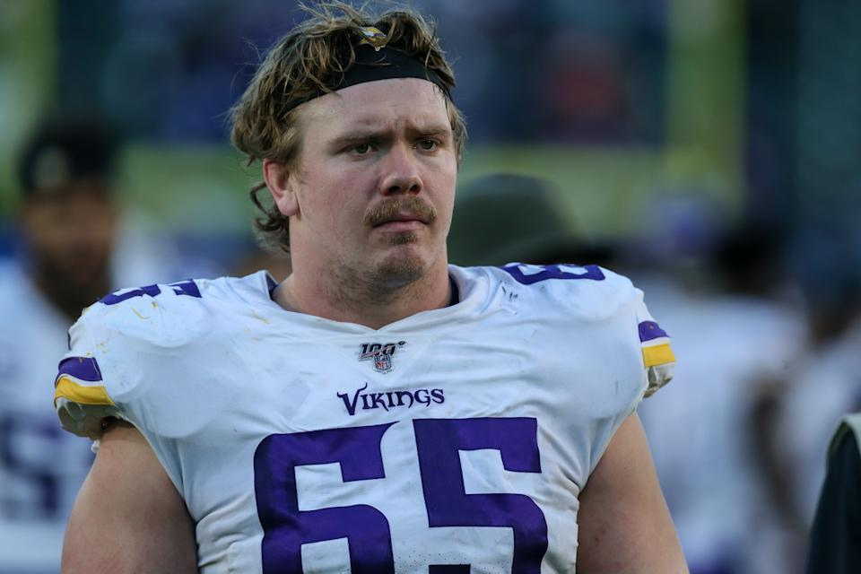 The Vikings released Pat Elflein day after he came back from injured reserve. (Jevone Moore/Icon Sportswire via Getty Images)