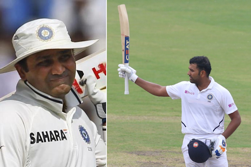 Rohit Sharma Scores Double Century, Twitter Calls it 'Perfect' Birthday Gift for Sehwag