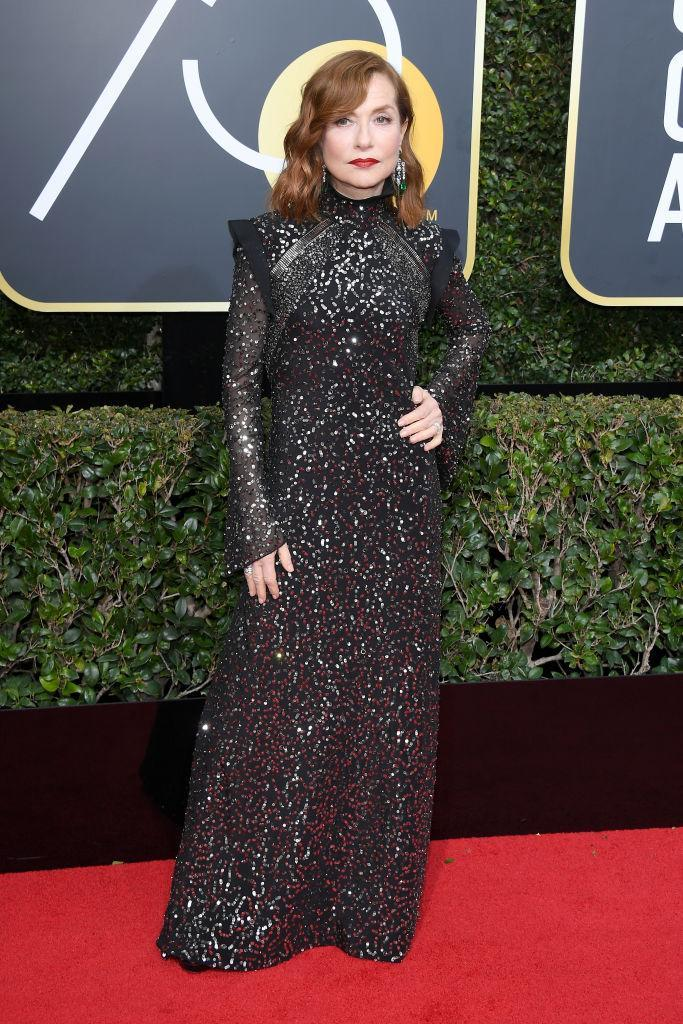 <p>The French actress, who won the Best Actress — Drama award last year for <em>Elle</em>, attends the 75th Annual Golden Globe Awards at the Beverly Hilton Hotel in Beverly Hills, Calif., on Jan. 7, 2018. (Photo: Steve Granitz/WireImag </p>