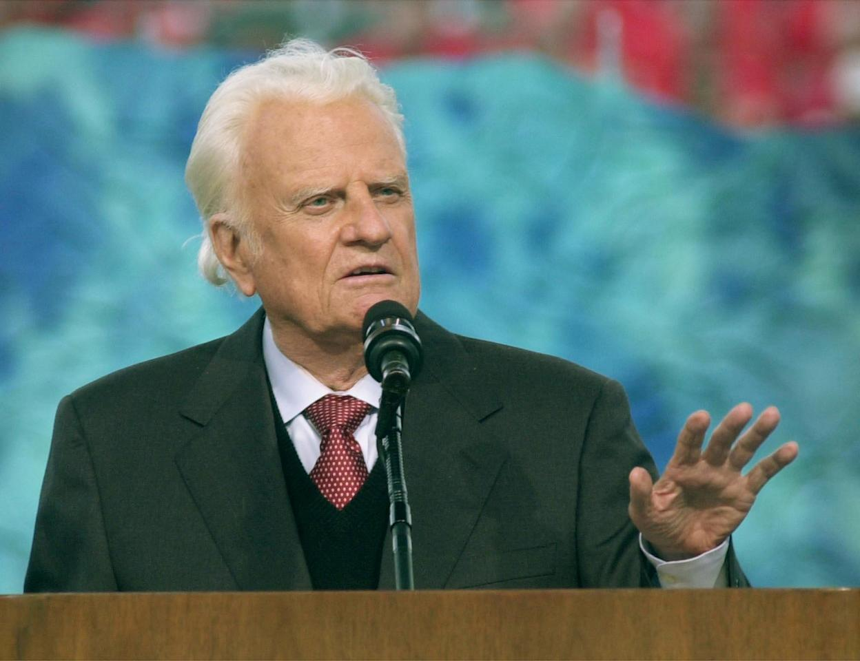 <p>The evangelist Billy Graham passed away Feb. 21 from natural causes. He was 99.<br />Since 1992 he had suffered from hydrocephalus, and had significant hearing, vision and balance loss.<br />Throughout his life, Graham became known as one of the world's most influential Christian leaders, and provided spiritual counsel for every U.S. president from Harry Truman to Barack Obama. He advocated against racial segregation and was frequently named in Gallup polls of the most admired men and women. However, he has drawn criticism in recent years for his views on women and homosexuality.<br />(Photo by David Kohl, AP) </p>