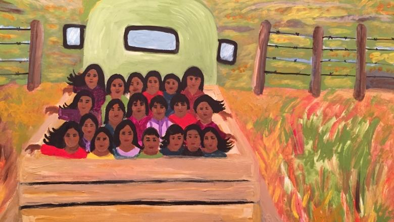 Getting It On Canvas Yukon Artist Paints To Heal Residential