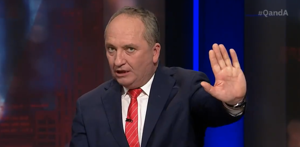 Barnaby Joyce has said the Israeli-Palestinian conflict is not Australia's problem. Source: ABC