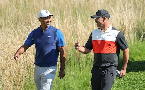 <span>Back in the early Eighties, the mighty US golf machine enjoyed a streak of winning - could Woods and Koepka help bring it back?</span> <span>Credit: GETTY IMAGES </span>