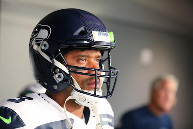 Russell Wilson might be the best player left standing from a strange but good 2012 NFL draft class. (Getty Images)
