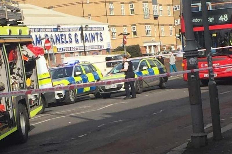 A large part of Lea Bridge Road was closed after the crash on Thursday afternoon (Hassan Kasim)
