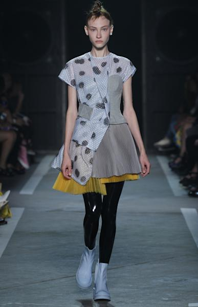 A hybrid dress from the Marc by Marc Jacobs SS15 runway show.
