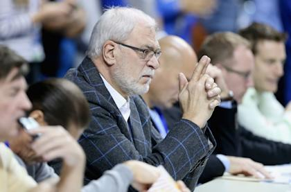 Phil Jackson watches Kentucky vs. Arkansas and contemplates the future. (Andy Lyons/Getty Images)