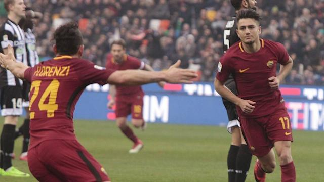 <p>Roma's Cengiz Under has been in fine goal scoring form for Roma in 2018.</p>