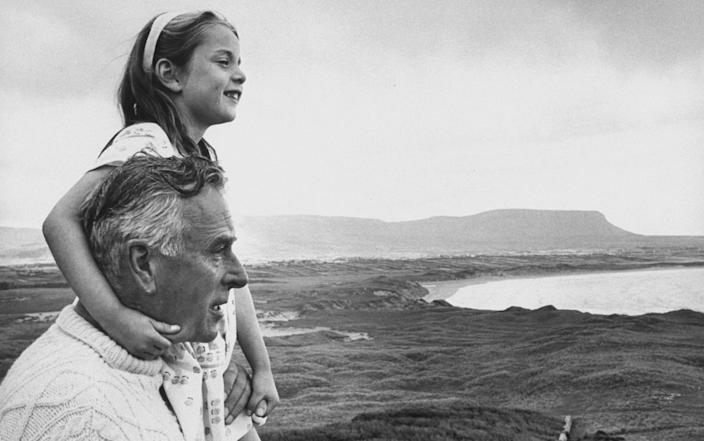 Lord Mountbatten plays with his grandchildren at the family castle in Ireland - WARNING: Use of this copyright image is subject to the terms of use of BBC Pictures' Digital Picture