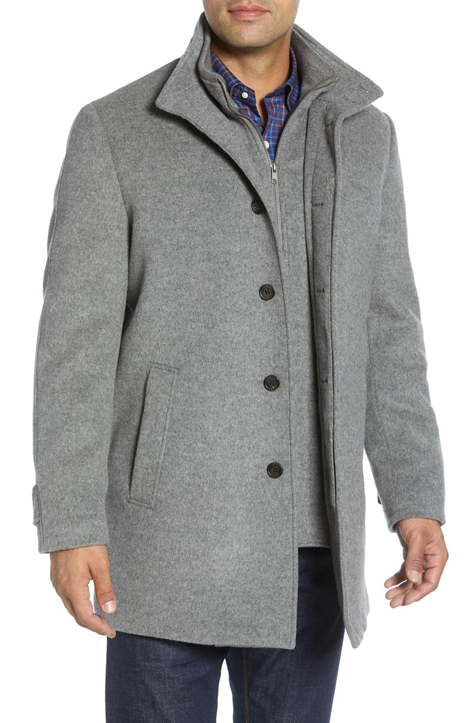 <p>The <span>John W. Nordstrom Hudson Wool Car Coat</span> ($375) pairs well with jeans and a sweater.</p>