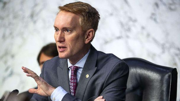 PHOTO: Sen. James Lankford questions retired Vice Adm. Joseph Maguire during a Senate Intelligence Committee confirmation hearing, to become the director of the National Counterterrorism Center, on Capitol Hill, on July 25, 2018 in Washington, D.C. (Al Drago/Getty Images)