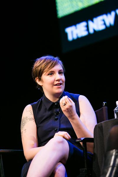 """This Oct. 7, 2012 photo released by The New Yorker Festival shows Lena Dunham, creator and star of the HBO series """"Girls,"""" during The New Yorker Festival in New York. (AP Photo/The New Yorker Festival, Todd France)"""