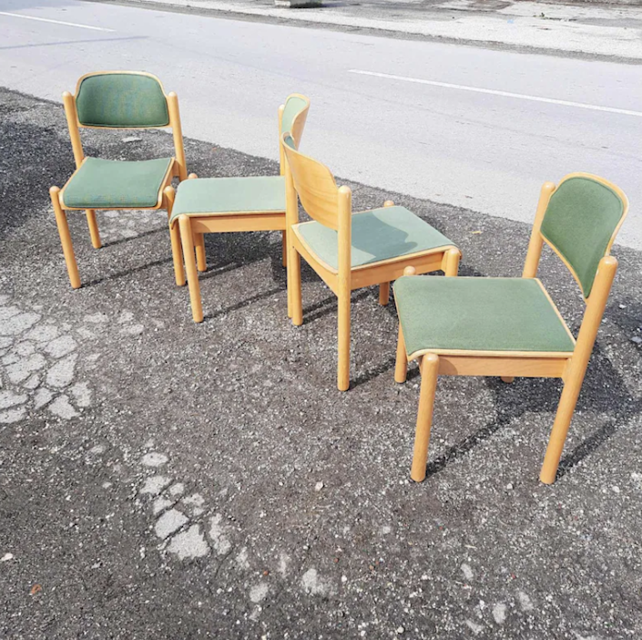 """I have a set of Thonet bentwood chairs at my dining table that I found at a nearby vintage shop, and they are such perfect chairs. If I had room for more Thonet at the table, I would love a couple of these upholstered beauties. $135, Etsy. <a href=""""https://www.etsy.com/listing/1052730052/vintage-dining-chair-thonet-retro-thonet?ga_order=most_relevant&ga_search_type=all&ga_view_type=gallery&ga_search_query=thonet&ref=sr_gallery-1-14&organic_search_click=1"""" rel=""""nofollow noopener"""" target=""""_blank"""" data-ylk=""""slk:Get it now!"""" class=""""link rapid-noclick-resp"""">Get it now!</a>"""