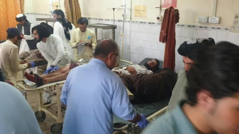 Taliban fighters are treated in a Pakistan hospital in Chaman.