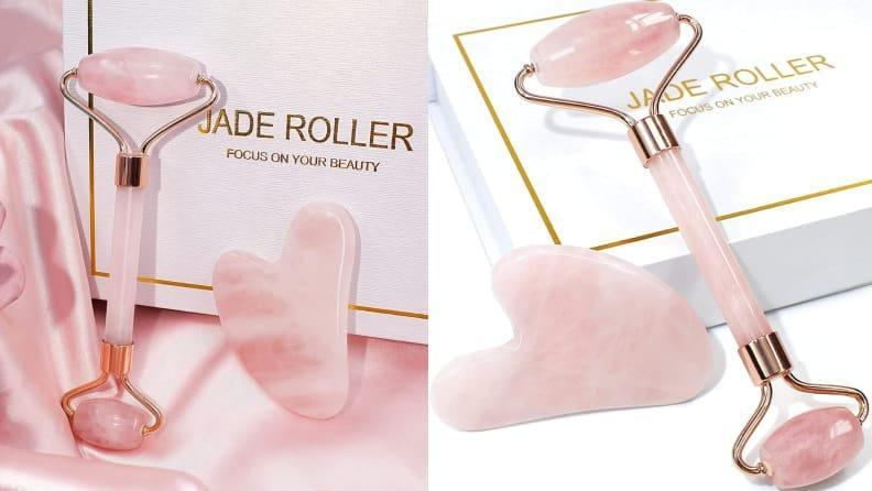 Jade rollers helps maximize the absorption of skincare products like facial oils and serums.