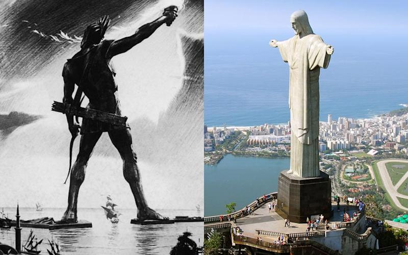 The Colossus of Rhodes and Christ the Redeemer, its modern match