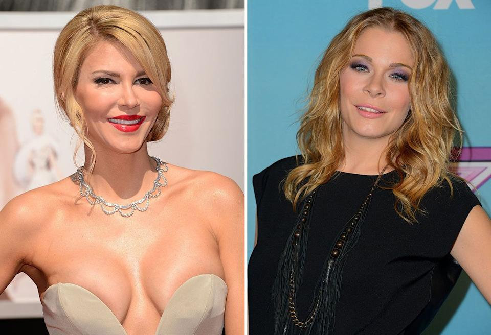 """Quite simply, LeAnne stole Brandi's husband, Eddie Cibrian, and made him her own. Since then, <a href=""""http://www.foxnews.com/entertainment/2013/02/25/brandi-glanville-opens-up-about-leann-rimes-adrienne-maloof-plastic-surgery-and/"""">the Real Housewife has been getting her public revenge (book included)</a>, and the feud between the two women just keeps making headlines."""