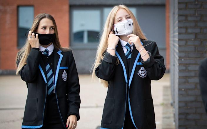 "Secondary school pupils will have to wear face coverings ""for a limited period"" from March 8 - Jane Barlow/PA Wire"