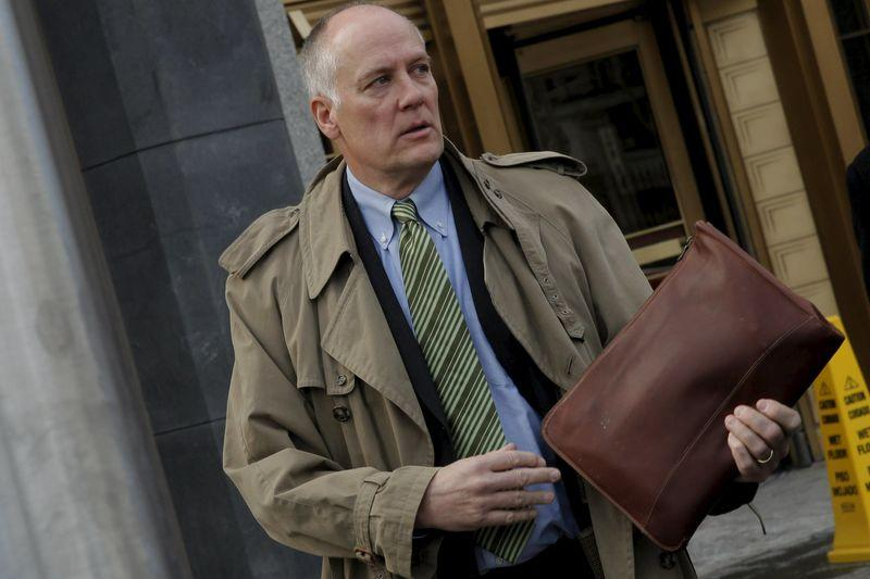 Former chief executive of Fannie Mae Daniel Mudd exits U.S. District Court in the Manhattan borough of New York City