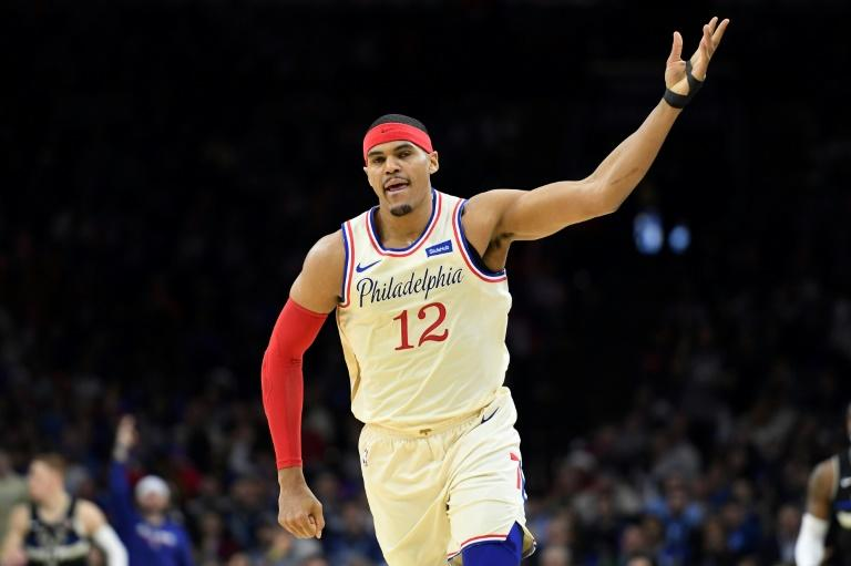 Philadelphia's Tobias Harris finished with a team high 34 points in the 76ers 115-106 win over the New York Knicks