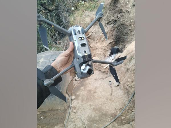 A quadcopter (DJI Mavic 2 Pro model) shot down by Indian Army in Keran Sector, Kupwara on Saturday. (Picture credit: Chinar Corps, Indian Army)