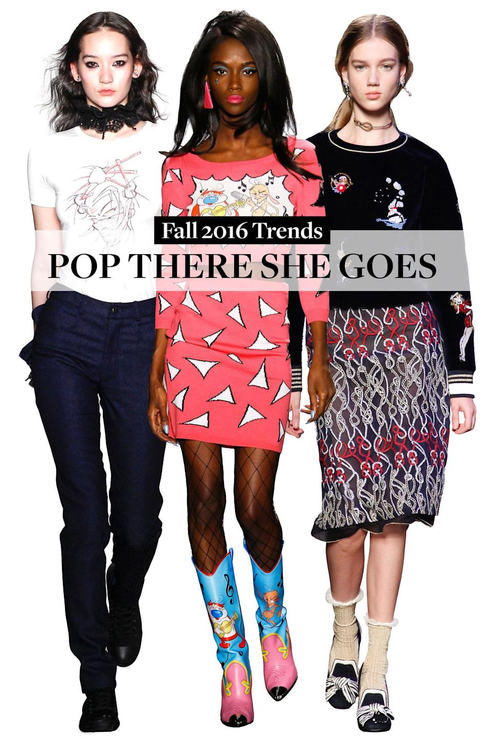 <p>Who says fashion has to be serious? We're seeing doodles and cartoons worn loud and proud!</p>