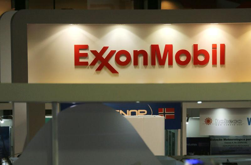 FILE PHOTO: A logo of the Exxon Mobil Corp is seen at the Rio Oil and Gas Expo and Conference in Rio de Janeiro
