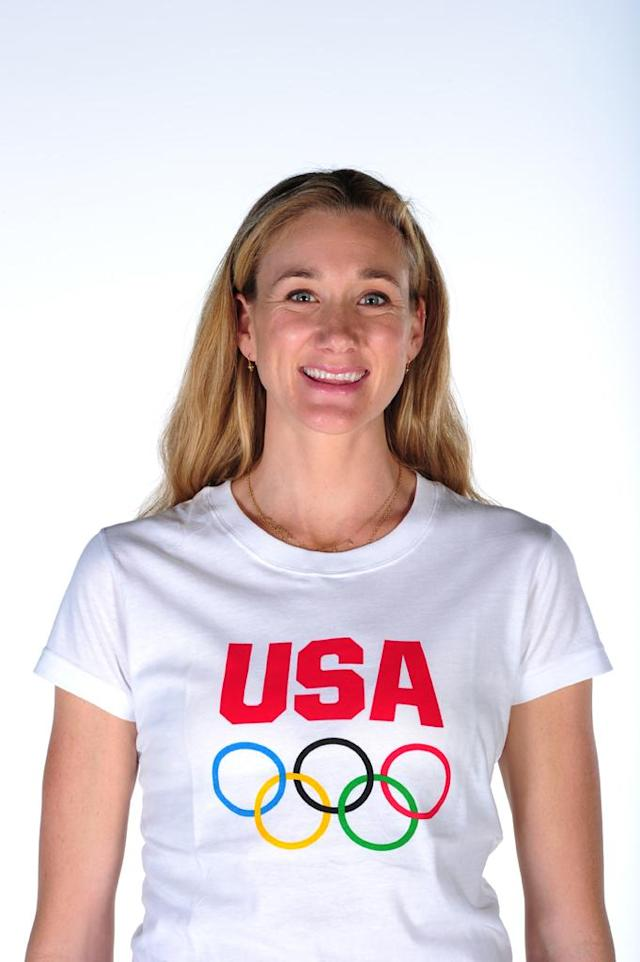 Volleyball player Kerri Walsh poses for a portrait during the USOC Portrait Shoot at Smashbox West Hollywood on November 17, 2011 in West Hollywood, California.