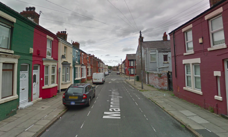 Two men were assaulted on Manningham Road in Anfield on Saturday night (Google)