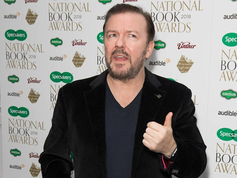 Ricky Gervais to host Golden Globes for fifth time