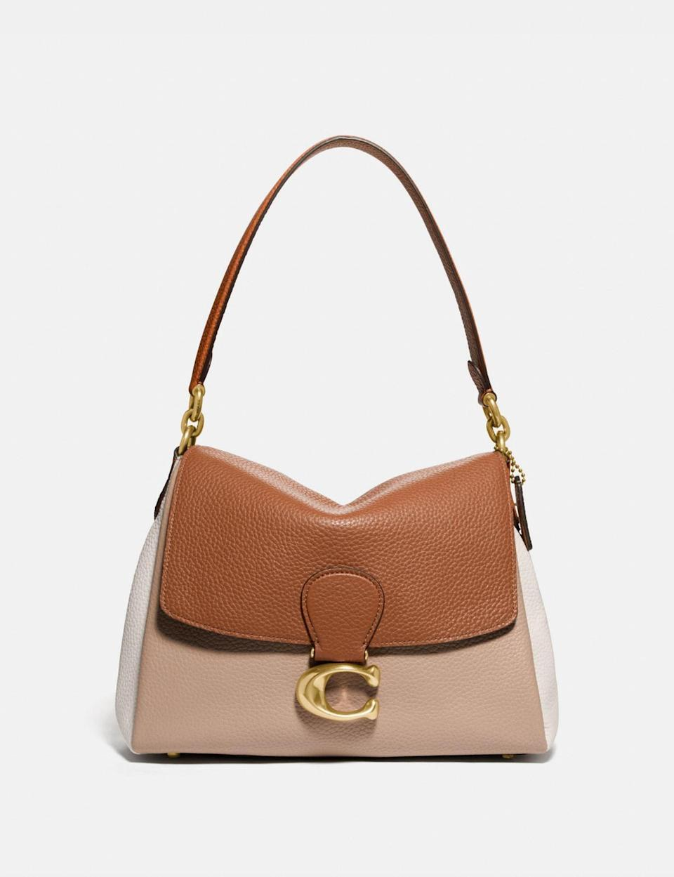 <p>This <span>Coach May Shoulder Bag</span> ($395) comes with a convenient crossbody strap, too.</p>