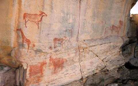 "Tsodilo boasts some 4,500 rock paintings earning it the nickname ""Louvre of the Desert"" - Credit: ALAMY"